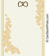 invitation mariage, floral, gaufré
