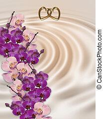 invitation mariage, orchidées