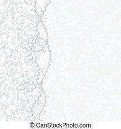 invitation, mariage, ou, carte, salutation