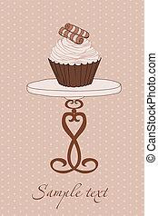 invitation mariage, petit gâteau