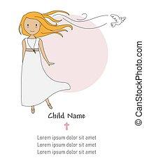 Invitation my first communion girl.