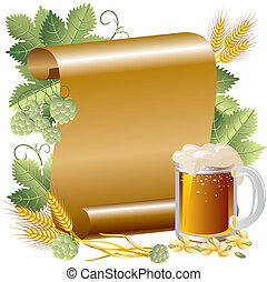 invitation Oktoberfest - Vector Image beer in the background...