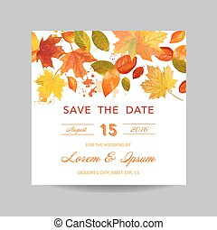 Invitation or Greeting Card Set - for Wedding, Baby Shower - in vector