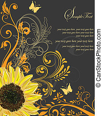 Invitation or wedding card