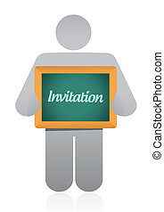 invitation sign message illustration design