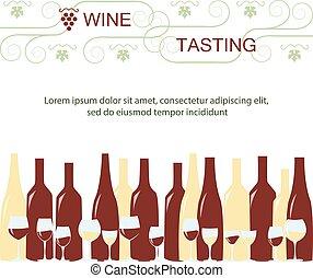 Invitation template for wine testing