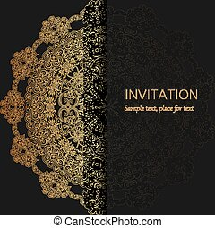 Invitation template. Modern design.