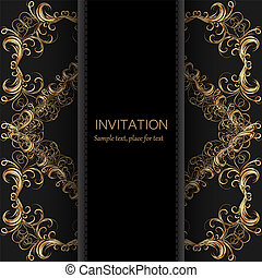 Invitation template. Modern design.