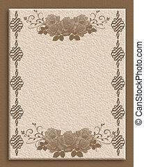 Invitation template textured paper
