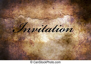 Invitation text on grunge background