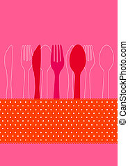 Invitation to dinner - Dinner invitation card design with...