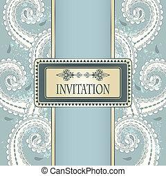 invitation, ton, vecteur, grungy, modèle, fond, gabarit, oriental, endroit, texte