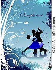 invitation, vecteur, petite amie, carte, salutation, jour, card., illustration.