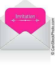 Invitation vector card