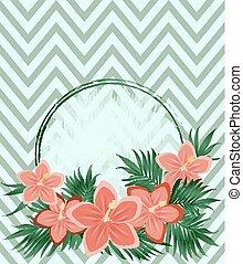 Invitation vintage floral card, vector illustration