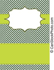 Invitation_01 - Retro chevron greeting card for different...