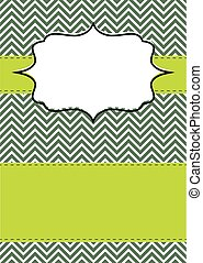 Invitation_02 - Retro chevron greeting card for different...