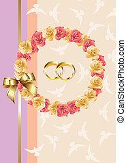 invitation/greeting, kaart, trouwfeest