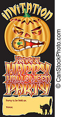 Invite Pumpkin Happy
