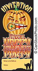 Invite Pumpkin Happy
