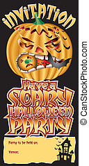 Invite Pumpkin Scary