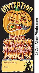 Invite Pumpkin Scary