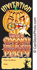 Invite Pumpkin Spooky