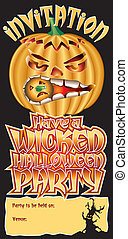 Invite Pumpkin Wicked