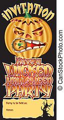 Invite Pumpkin Wicked