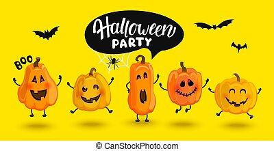 invitera, halloween, pumpor, monster, fest.