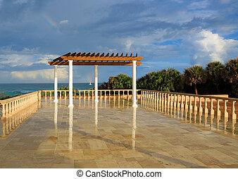 Inviting terrace and pergola