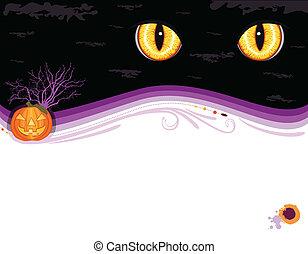 invito, halloween, scheda, festa, grungy