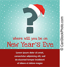 invito, per, anno nuovo, festa