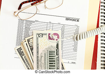 Invoice - An invoice sheet showing big unpaid balance with...