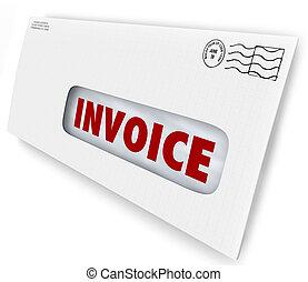 Invoice Bill Due Mailed Letter Envelope Notice Reminder -...