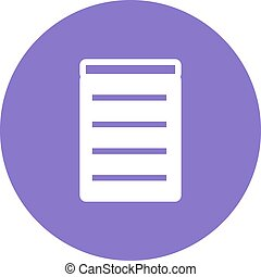 Invoice, bill, receipt icon vector image.Can also be used...