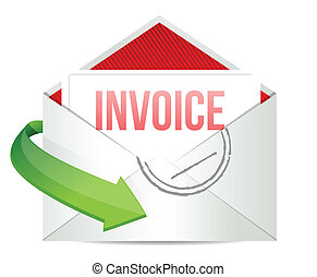 invoice Concept representing email illustration design over...