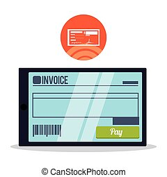 Invoice design. Online payment. Isolated illustration