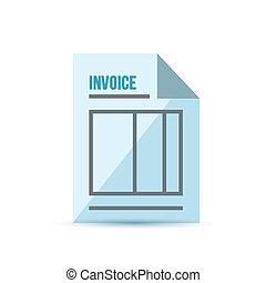 invoice form illustration design