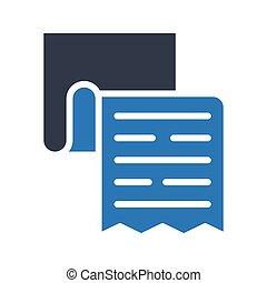 invoice glyph color icon