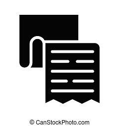 invoice  glyphs icon