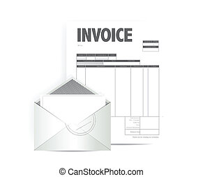 invoice illustration design over a white background