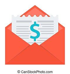 Invoice in Envelope