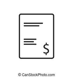 Invoice line icon on a white background