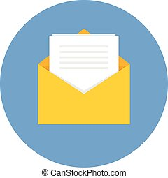 Invoice Mail .Vector Flat Icon
