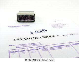 Invoice paid. - Represent paper copy of computer invoice...