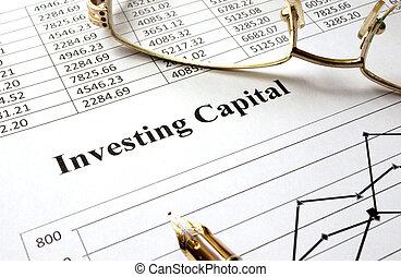 inwestując, kapitał