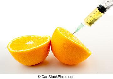 inyección, de, vitaminas