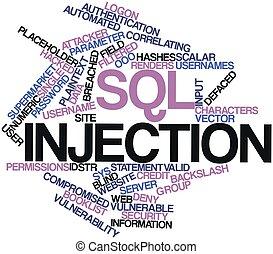 inyección, sql