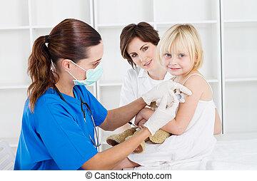 inyección, vacuna